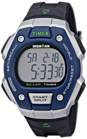Timex Ironman Classic 30 Full-Size Watch Black/Blue - Chickadee Solutions - 1