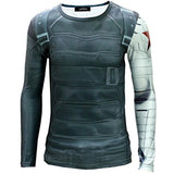 Mxnpolar Captain America 2 Winter Soldier Killer T-shirt Cosplay Costume - Chickadee Solutions - 1