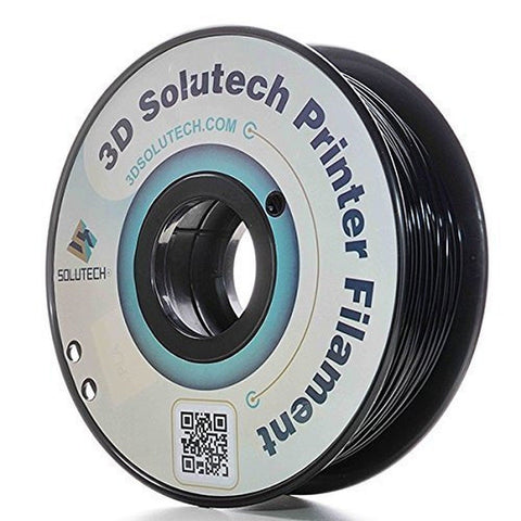 3D Solutech Real Black 1.75mm PLA 3D Printer Filament 2.2 LBS (1.0KG) - 100% ... - Chickadee Solutions - 1