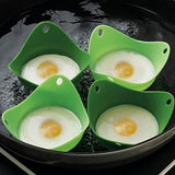 Cojoy Silicone Egg Poachers Egg Cookware Cups Silicone Poach Pods Built with ... - Chickadee Solutions - 1