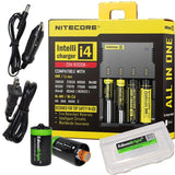 NITECORE i4 Intellicharge Universal Smart 4 slot Battery Charger Bundle with ... - Chickadee Solutions - 1