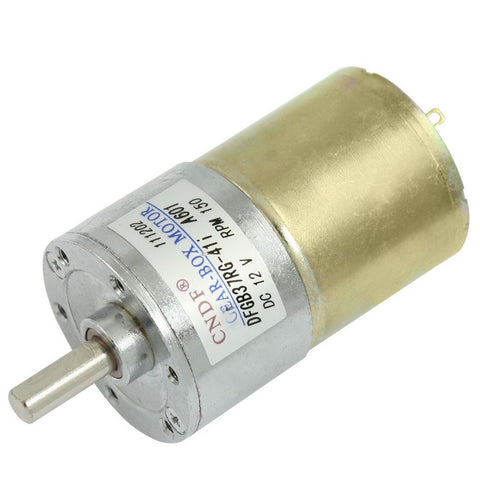 150RPM 160mA 12V DC 2.04kg.cm Torque 37mm Dia Magnetic Gear Box Motor - Chickadee Solutions - 1