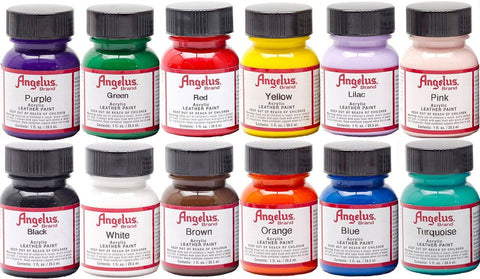Angelus Acrylic Leather Paint Starter Kit - Chickadee Solutions