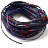 EvZ 4 Color 10m RGB Extension Cable Line for LED Strip RGB 5050 3528 Cord 4pin - Chickadee Solutions - 1