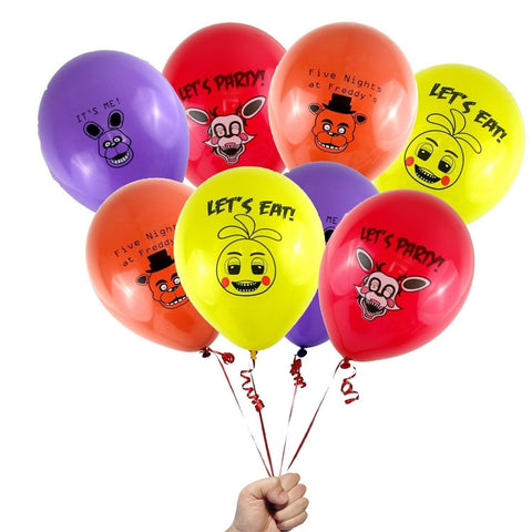 "12 Count Five Nights at Freddy's Party Favor 12"" Printed Latex Party Balloons - Chickadee Solutions - 1"