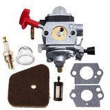 HIPA Carburetor with Primer Bulb Gasket Filter Spark Plug for STIHL SP90 KM90... - Chickadee Solutions - 1