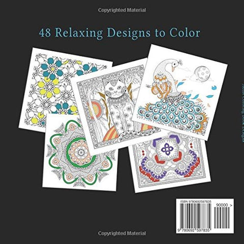 Adult coloring book designs stress relief coloring book for Garden design workbook