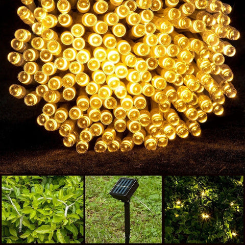 Solar Led String Lights Warm White : Lightsetc 100 Led Solar String Lights 39-Feet Warm White Chickadee Solutions