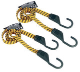 "Keeper 06104 Ultra 48"" Black/Yellow Flat Bungee Cord 2 Pack - Chickadee Solutions"