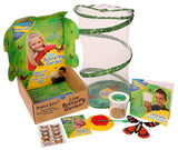Butterfly Garden Gift Set with Live Cup of Caterpillars - Chickadee Solutions - 1