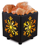 Crystal Decor Natural Himalayan Salt Lamp in Snowflake Design Metal Basket wi... - Chickadee Solutions - 1