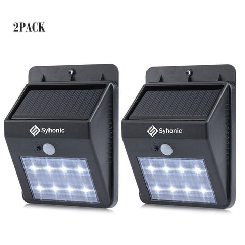 Syhonic Solar Lights Motion Sensor Waterproof Wireless LED Outdoor Spotlights... - Chickadee Solutions - 1