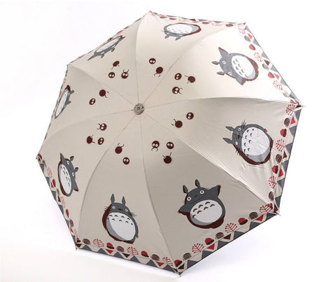 "Petty Cabin Cartoon ""My Neighbor Totoro"" Creative Design Anti-UV Sun Umbrella... - Chickadee Solutions - 1"