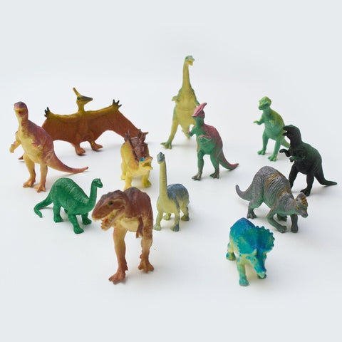 Fun Central AU191 6 inch Jumbo Dinosaur Toys - Assorted Styles 12 count - Chickadee Solutions - 1