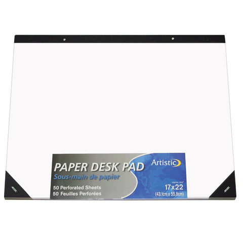 "Artistic Office Products 17"" x 22"" Plain Paper Drawing & Note Desk Pad White ... - Chickadee Solutions - 1"