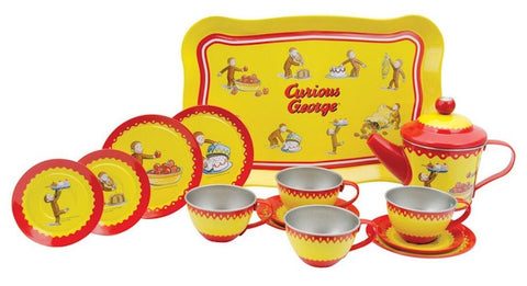 Curious George Tin Tea Set - Chickadee Solutions