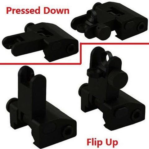 1 X Flip Up Front and Rear Back up Iron Sight - Chickadee Solutions - 1
