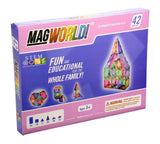 MagWorld Toys Pastel Magnetic Construction Set (42 Piece) - Chickadee Solutions - 1