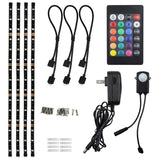 TORCHSTAR LED Multi-color RGB Home Theater TV Backlight Kit 4pcs of ETL liste... - Chickadee Solutions - 1