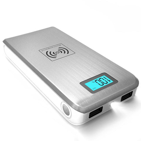 ActionPie Qi Wireless 12000mAH Power Bank with Dual USB Port and LCD Display ... - Chickadee Solutions - 1