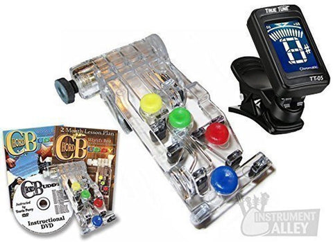 Chord Buddy Guitar Learning System with Clip-on Chromatic Tuner - Chickadee Solutions - 1