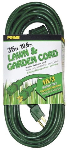 Prime Wire & Cable EC880627 35-Foot 16/3 SJTW Lawn and Garden Outdoor Extensi... - Chickadee Solutions