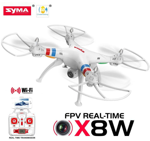 Cheerwing Syma X8W FPV Real-time 2.4Ghz 6 Axis Gyro Headless Quadcopter Drone... - Chickadee Solutions - 1