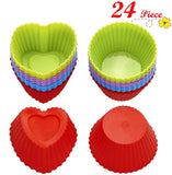Chefaith 24-Pcs Reusable Silicone Baking Cups Cupcake Liners Muffin Cups [12 ... - Chickadee Solutions - 1