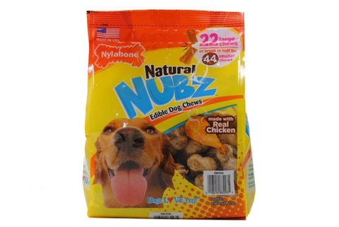 Nylabone Natural Nubz Edible Dog Chews 22ct. (2.6lb bag) - Chickadee Solutions