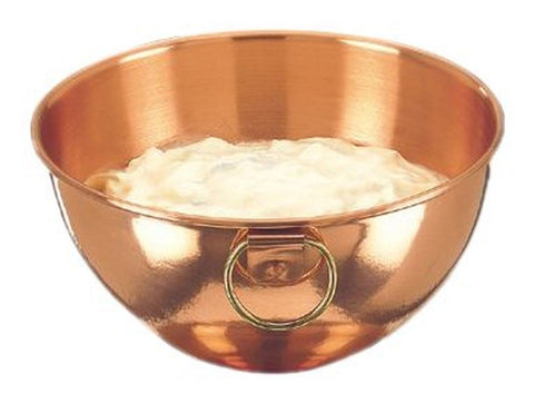 81/4 In. Diameter Solid Copper Beating Bowl 2 Qt. - Chickadee Solutions
