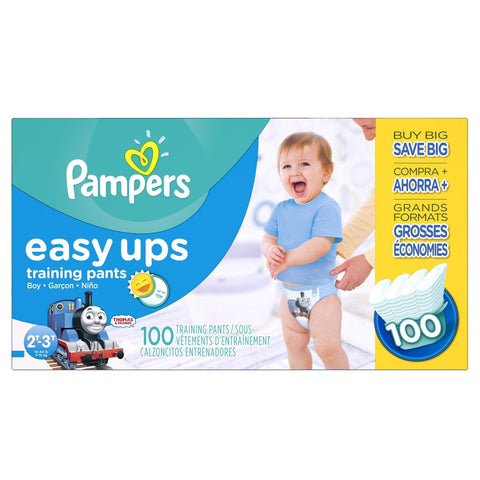 Pampers Easy Ups Training Pants Diapers for Boys Value Pack Size 2T3T 100 Count - Chickadee Solutions - 1