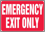 "Accuform Signs MEXT586VP Plastic Safety Sign Legend ""EMERGENCY EXIT ONLY"" 7"" ... - Chickadee Solutions"