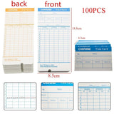 100X2 Sided Format Monthly Time Clock Cards Attendance Payroll Recorder Timec... - Chickadee Solutions - 1