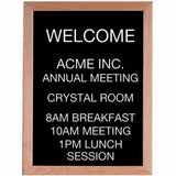 Aarco Products AOFD2418 Red Oak Framed Letter Board Message Center - Chickadee Solutions