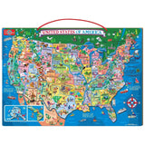 T.S. Shure Wooden Magnetic Map of the USA Puzzle Standard Packaging - Chickadee Solutions - 1