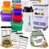 Portion Control Containers EXCLUSIVE Kit (7-Piece) & Protein Shaker Cup with ... - Chickadee Solutions - 1