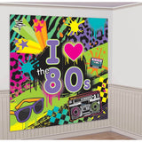 Amscan Awesome 80's Party Wall Scene Setter Decorating Kit (2 Piece) Multi Co... - Chickadee Solutions