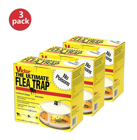 Victor M230 Ultimate Flea Trap (3 Pack) Multy 3 Pack - Chickadee Solutions - 1