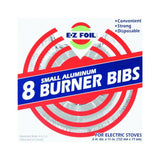 Electric Hefty EZ Foil Burner Liners For Electric Stoves Small Aluminum 8 Pack - Chickadee Solutions