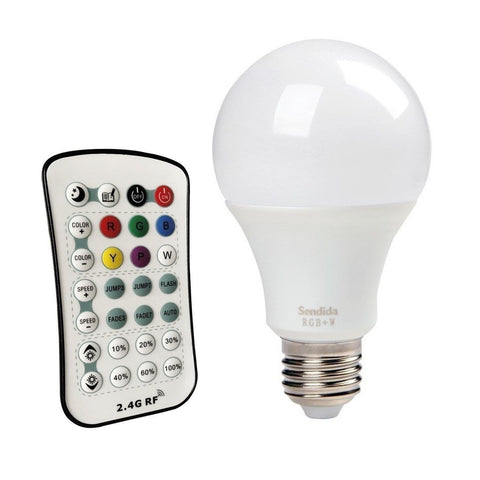 Sendida LED Light Color Changing - 12W LED RGB Bulb Dimmable with Wireless Re... - Chickadee Solutions - 1