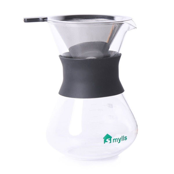 Coffee Maker That Doesnot Drip When Pouring : SMYLLS Hand Drip Coffee Maker For Pour Over Coffee3 Cup(12 oz) Glass Carafe w... Chickadee ...