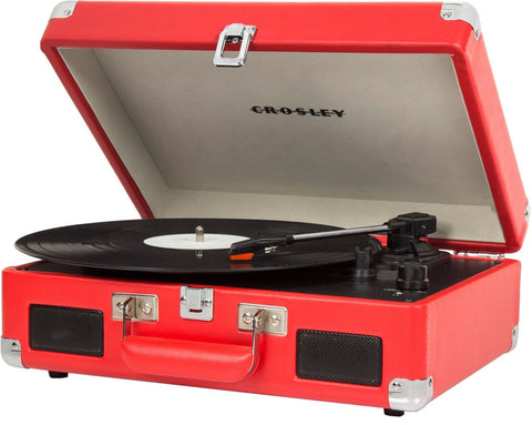 Crosley CR8005C-RE Cruiser II Portable Battery Powered 3-Speed Turntable Red - Chickadee Solutions