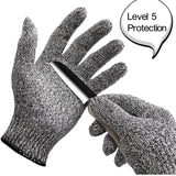 WISLIFE Cut Resistant Gloves ;Level 5 Protection Food GradeEN388 Certified Sa... - Chickadee Solutions - 1