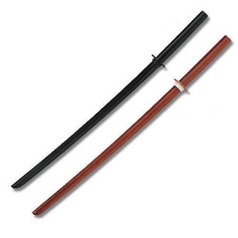 1 Black and 1 Natural Wooden Bokens set of 2 Training Swords - Chickadee Solutions