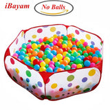 iBayam Toy Play Tent Baby Ball Pit Kids Playpen Children Play Pool Hexagon Po... - Chickadee Solutions - 1
