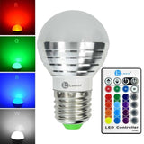 LONOVE 16 Colors Change 3W E27/E26 Standard Screw Base Dimmable Lamp RGB LED ... - Chickadee Solutions - 1