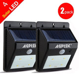 AGPtEK Solar Powered Wireless LED Security Motion Sensor Light Outdoor Wall/G... - Chickadee Solutions - 1