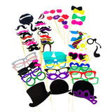 Photo Booth Props Photography Stick Face Mask Mustache Glasses Paper DIY Kit ... - Chickadee Solutions - 1