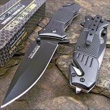 TAC FORCE Spring Assisted Opening BLACK Tactical Rescue Folding Pocket Knife ... - Chickadee Solutions
