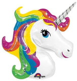 "33"" Rainbow Unicorn Shape Mylar / Foil Balloon - Chickadee Solutions"
